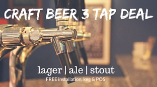 Craft Beer 3 Tap Deal